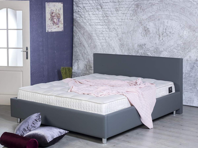BedBox Modernes Polsterbett Tracy 2002-200 x 200 - PU Leder schwarz