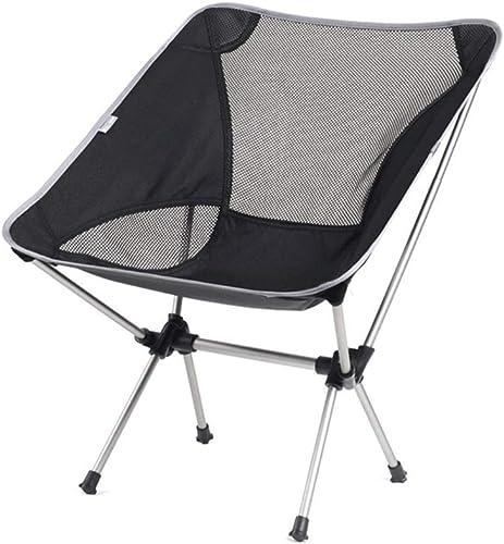 SCJ Chaise de pêche Pliante, Extérieur, Alumide, Camping, Plage, Bord de mer, Acier Inoxydable, Portant 100 kg (Couleur  Argent)