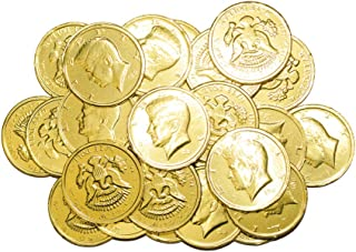 R.M. Palmer Milk Chocolate Gold Coin Half Dollars, Bulk Bag, Fun Sized, Treats, Candy, and Snacks (2 lb)
