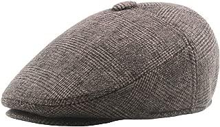 Warm Cap Beret Cap Autumn Winter Season Cotton Ladies Men's Middle-Aged Advancing Cap Retro ` TuanTuan (Color : Khaki, Size : 56-58CM)