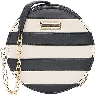 ADISA women girls round stripes sling bag (SL5061)
