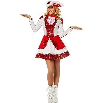 Gardekostüm Damen Rotes Tanzmariechen Kostüm Funkenmariechen Garde Funkenkostüm