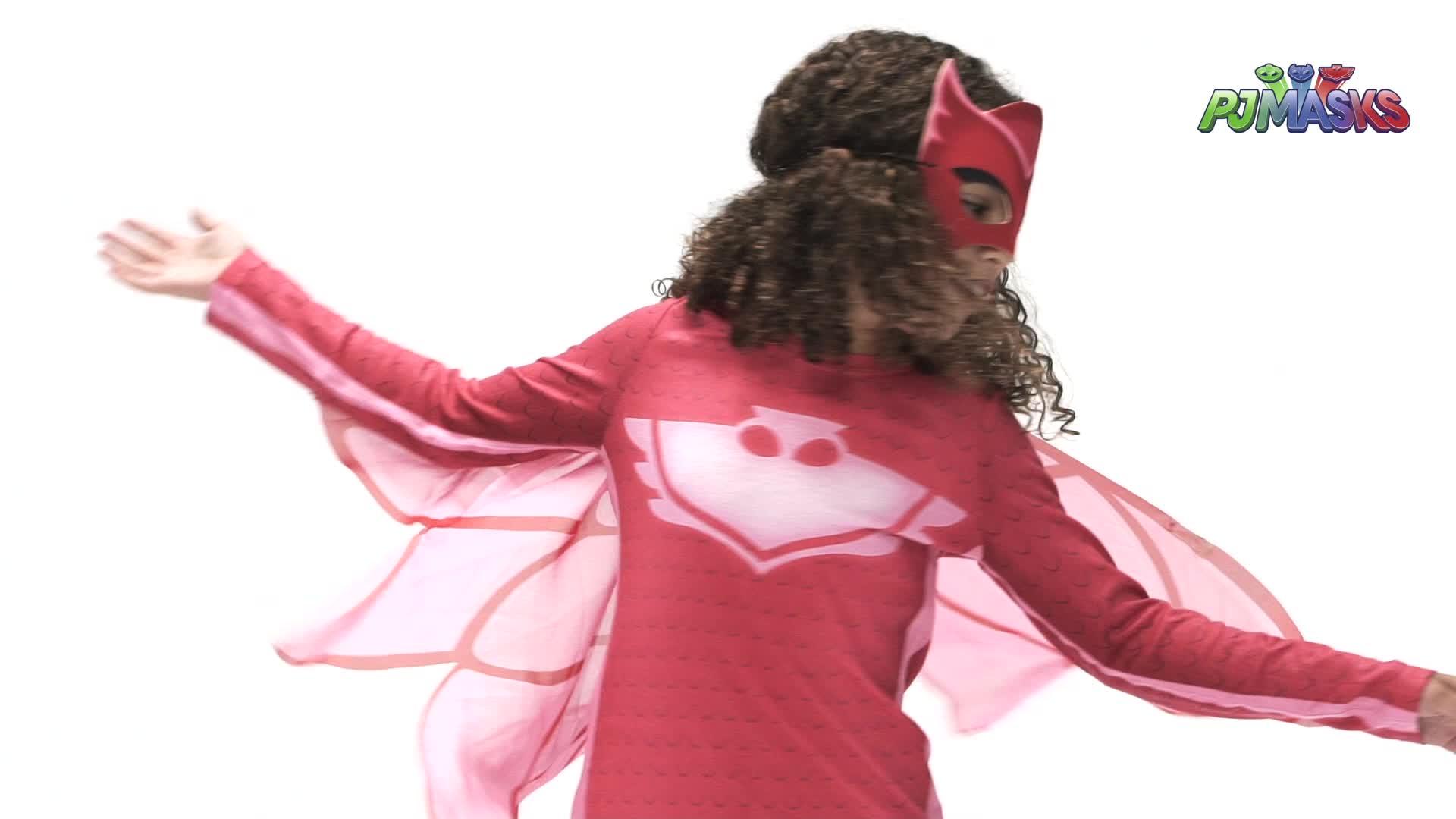 Viving Costumes-231297 Disfraz PJ Masks Owlette Camiseta, Multicolor (231297)