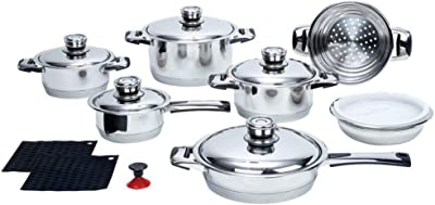 Chef 16 Pc Stainless Steel Cookware