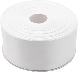 Topenca Supplies 2 Inches x 50 Yards Double Face Solid Satin Ribbon Roll, White