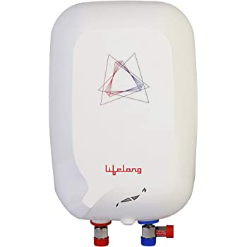 Lifelong Flash 3 Litres Instant Water Heater (3000 Watts, ISI Certified, 2 Years Warranty)