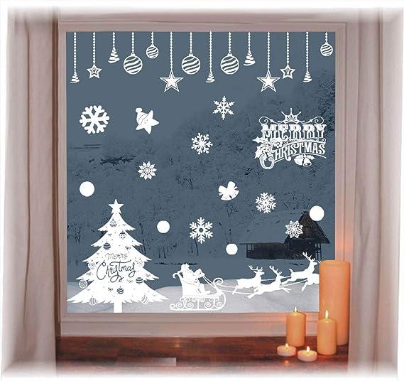 Wiederverwendbare Winterliche Fensterbilder Weiße Weihnachten Fensteraufkleber Weihnachtsaufkleber Abnehmbare Pvc Weihnachten Schneeflocken Aufkleber Vitrinen Selbstklebend Fensterfolie Weihnachtsdeko Küche Haushalt