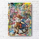 ZXCLKJH Banksy Kunstdruck Auf Leinwand,Banksy Kunst Meiner