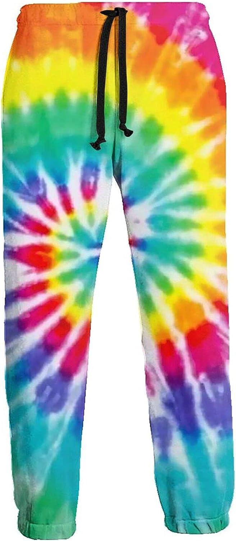 Mens Jogger Sweatpants Colorful Paint Splash Lightweight Workout Athletic Joggers Pants Trousers