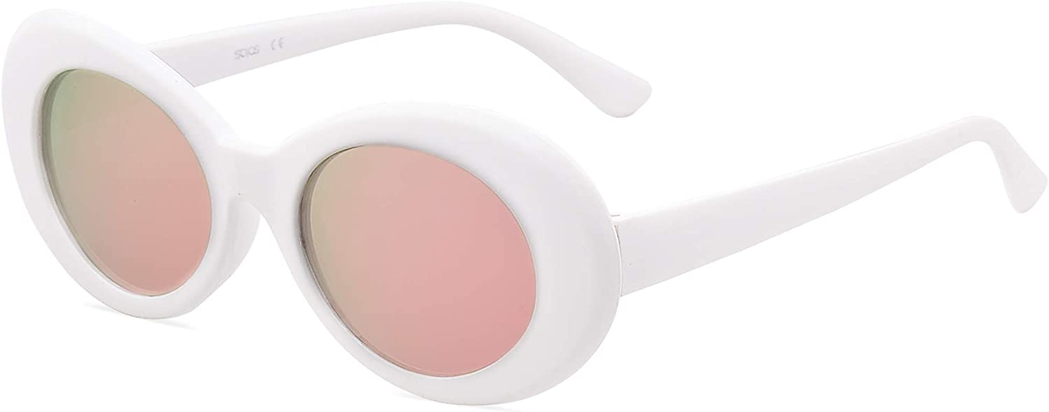 famous SOJOS Clout Goggles Oval Ranking TOP11 Mod Kurt Vintage Cobain Inspired Retro