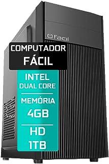Computador Fácil Intel Pentium Dual Core 4GB DDR3 HD 1TB
