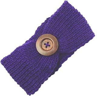 Topfly® Baby Knit Headband Button Woolen Headwrap Baby Winter Hair Band
