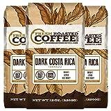 Fresh Roasted Coffee LLC, Dark Costa Rica Tarrazu Coffee, Dark Roast, Whole Bean, 12 Ounce Bags, 3 Pack