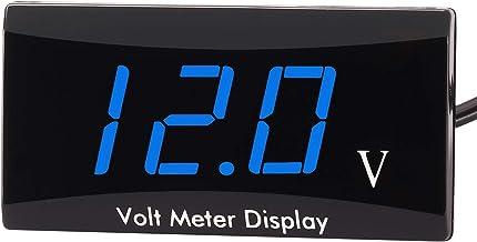 Kinstecks Voltímetro de la MotocicletaDC 12V Medidor de Voltaje de Pantalla LED medidor de Voltaje Digital