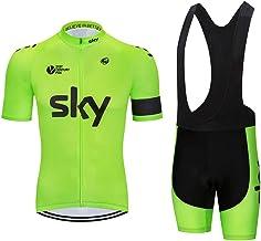 Wielertrui Wielerkleding Korte Mouw Sneldrogende MTB Bike Jersey Ademend Basic Bike Shirts met Reflecterende Strip voor Sport