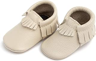 Soft Sole Leather Moccasins - Baby Girl Boy Shoes - Multi-Color