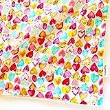 はぐまむ 日本製 お昼寝布団カバー ガーゼ素材 綿100 ファスナー 保育園 ベビー布団 カバー (ラブリーハート, 敷きカバー レギュラー 70×120) 2503A-05
