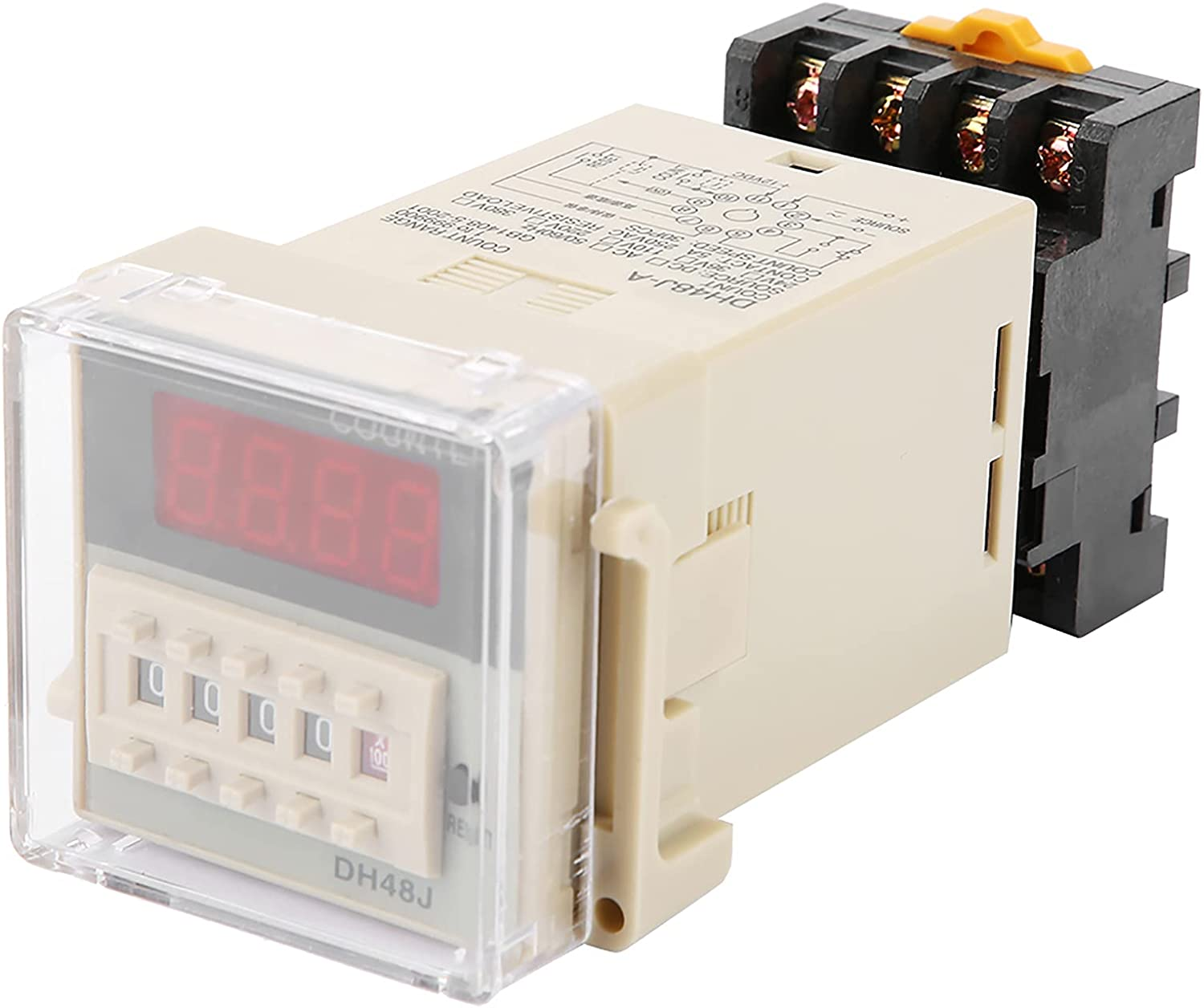 EVTSCAN Don't miss the campaign DH48J‑11A 11‑Pin Digital LED Counter half Dis Relay