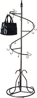SunRise Purse Handbag Metal Display Tree Stand/Coat Rack, Brown Painted Finish