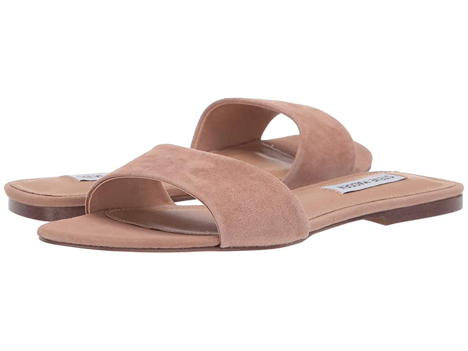 Steve Madden Bev Flat Sandal (Tan Suede) Women