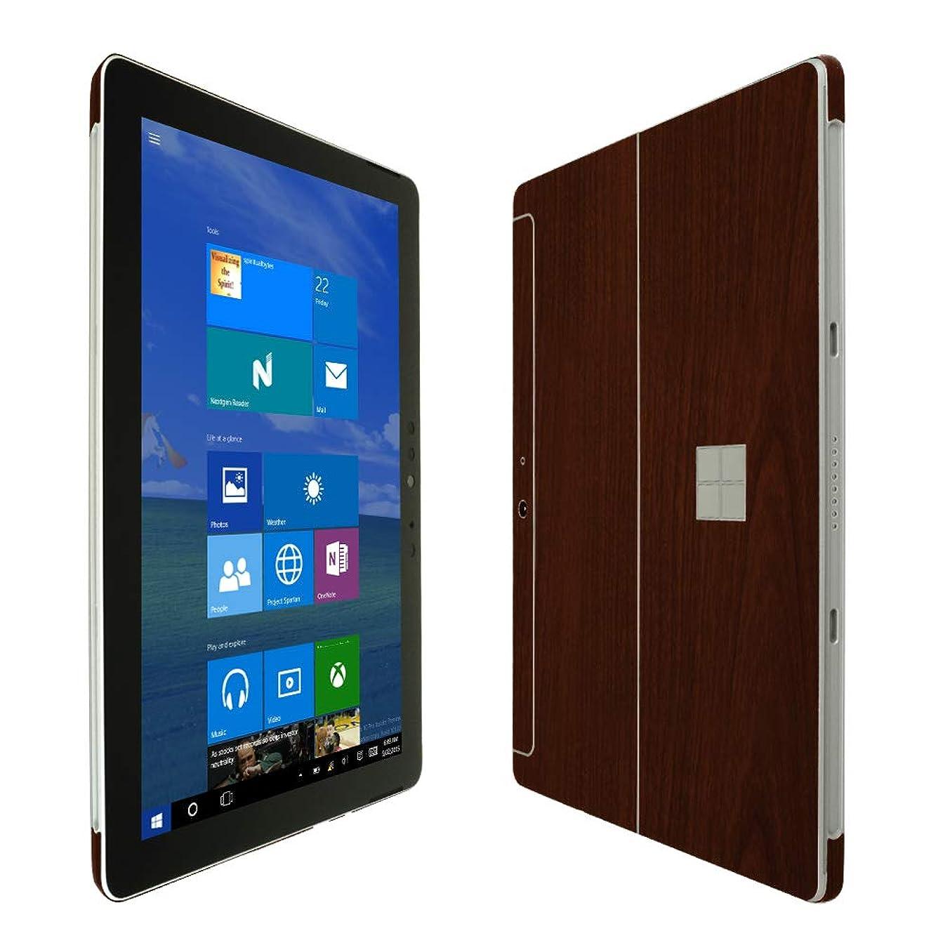 Skinomi TechSkin - Microsoft Surface Go Screen Protector + Dark Wood Full Body Skin/Front & Back Wrap Clear Film/Ultra HD and Anti-Bubble Shield