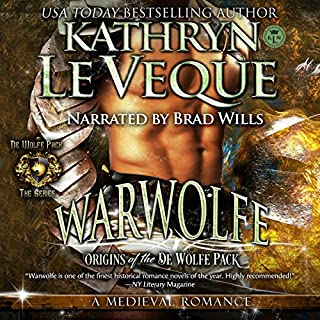 Warwolfe     de Wolfe Pack, Volume 1              By:                                                                                                                                 Kathryn Le Veque                               Narrated by:                                                                                                                                 Brad Wills                      Length: 13 hrs and 17 mins     7 ratings     Overall 4.9