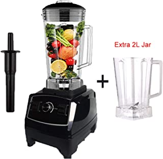 2200W Heavy Duty Commercial Blender Professional Blender Mixer,Black extra jar Plug