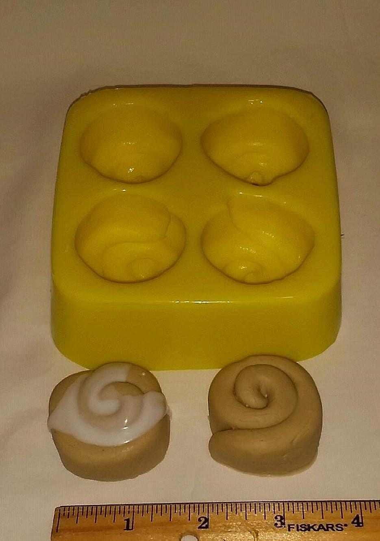 Mini Cinnamon Buns Soap & Candle Mold - 4 Cavity Mold