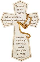 The Spirit of the Lord Confirmation Holy Spirit Wall Cross, 8 1/2 Inch
