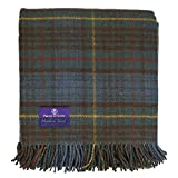 Prince of Scots Highland Tartan Tweed 100% Pure New Wool Fluffy Throw ~ Antique Hunting Stewart ~