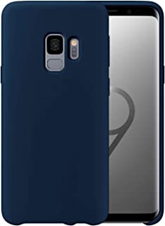 Liquid Silicone Phone Case for Samsung Galaxy S9 /Full Body Protection/Shockproof/Gel Rubber/Cover Case Drop Protection Blue