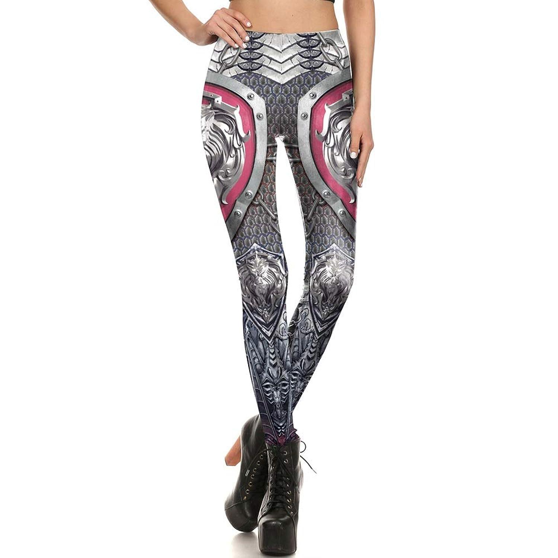 XiuZP ファッション装甲戦士シールドグレーレギンスヨガパンツタイツスポーツフィットネス用女性ファッション3dデジタル印刷パフォーマンス服複数選択 (Color : Gray, Size : L)