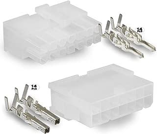 Molex 14 Circuit Wire Connector - 1 Complete Conn. w/Pins Mini-Fit Jr