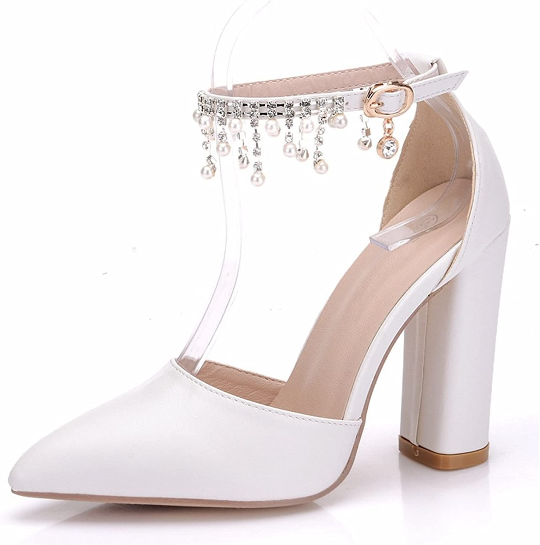 7b3b8ea83f921 Minishion Minishion Minishion Women's Ankle Chains Chunky High Heel ...
