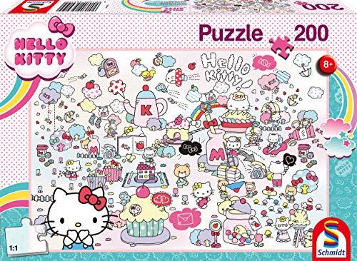 Schmidt Spiele Puzzle Infantil (200 Piezas), diseño de Hello Kitty, Color carbón (56410)