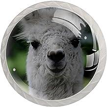 Lade Handgrepen Kabinet Knoppen Rond Een Pack van 4 Lade Knoppen, Llamas Alpaca