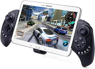 ZOMTOP PG9023 Android/iOS/PC対応 Bluetooth ゲームコントローラー ゲームパット 伸縮性のホルダーを備えiPhone、タブレットに対応