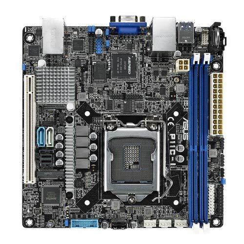 ASUS P11C-I Server Mainboard (Mini-ITX, Intel E-2100 / E-2200 Serie, LGA 1151-2, 4x DDR4 2666 MHz ECC, PCIe 3.0, M.2, NVME, SATA, Dual LAN)