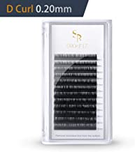 D Curl 0.20 Eyelash Extensions, Silk Individual Single Lash Extensions Matte Black 3d Volume Lashes Extensions 8-15mm Length Mix Tray Suitable Use For Beauty Salon by SRCKFIZ