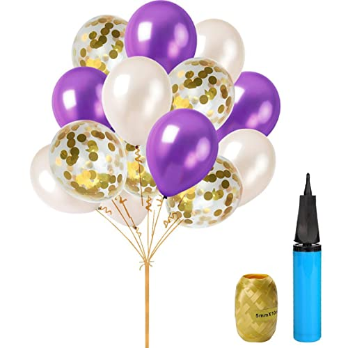 Purple And Gold Birthday Decorations Amazon Com