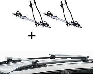VDP 4 X Portabici Orion portapacchi in acciaio Quick L compatibile con Mercedes Classe C Kombi IV a partire dal 2015
