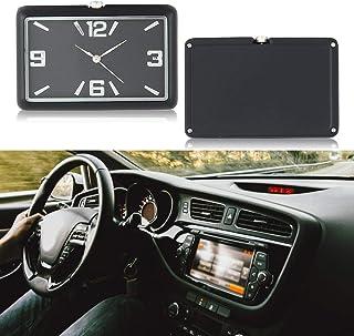 ساعة طاولة Volwco Car Dashboard صغيرة للسيارة، انالوج بعقارب كوارتز للسيارة، لوحة مركزية للسيارة، منزل، ستدي، ديكور, اسود
