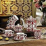 GYC Reusable Coffee Cup Coffee Sets Bone China High-End European Tea Sets Creative Afternoon Tea Sets Teapot And Cups Set Home Decorations-Set Of Fifteen