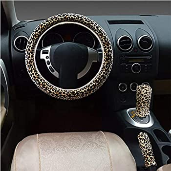 1Pc Hand Sanitizer Bottle Holder,1Pc Hand Sanitizer Bottle,1Pc Keychain 5Pcs Leopard Steering Wheel Cover for Women Car Wheel Accessories with 1Pc Leopard Steering Wheel Cover,2Pcs Leopard Coasters