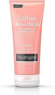Neutrogena Oil-Free Acne Wash Scrub Pink Grapefruit Value Size, 198ml