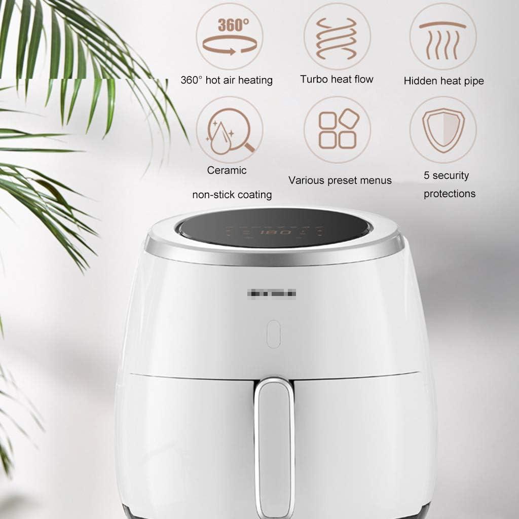 NHX Luftfritteuse ölfrei,60-Minuten-Timer und einstellbare Temperaturregelung, automatische Abschaltung der Touchscreen-Luftfritteusen,Für Haus und Küche 6,4 l,White White