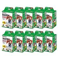 富士フィルム チェキフィルム instax mini 2パック品 JP2(20枚入り)×10個セット [200枚入]