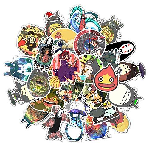BLOUR No repita Pegatinas Mixtas Hayao Miyazaki Pegatinas de Dibujos Animados Tmall Cartoon Toy Stickers 50