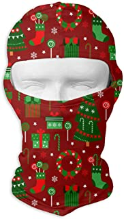 01869e8a13ee7 UV Protection Face Mask for Cycling Outdoor Sports Full Face Masks Merry  Christmas Tree Gifts Red