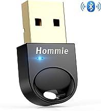Hommie Bluetooth USB PC, Bluetooth 4.0 USB Adaptador Pendrive con BLE Tecnología y Indicadora LED para Windows 10,8,7,8.1 etc, para Mando PS4, Mando Xbox One S, Auricular, Altavoz, Teclado, Ratónes …